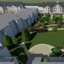 Proposed outdoor courtyard rendering